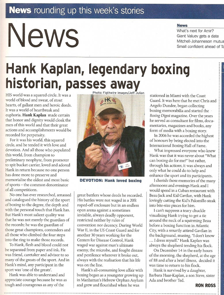 HankKaplan-obituary-Boxing-News